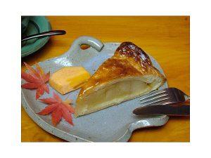 福岡県のアップルパイ(りんご畑のなかのカフェ mi caf/博多・天神・太宰府)